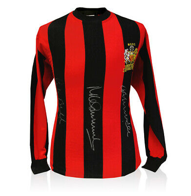 Manchester City Shirt Signed By Bell, Summerbee & Lee - 1969 FA Cup Winners