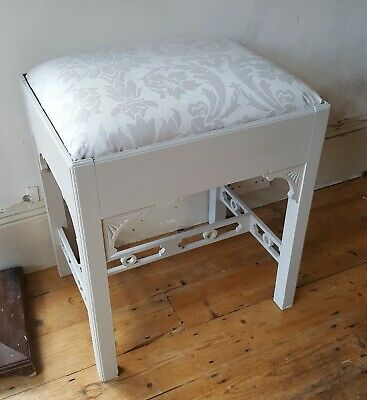 Painted Shabby Chic Piano Stool Music Storage Farrow & Ball