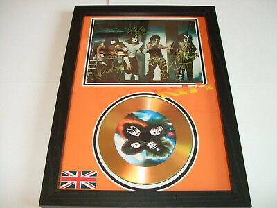 kiss   SIGNED  GOLD CD  DISC  22