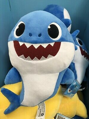 Pinkfong Baby Shark Official Singing Doll Blue Daddy English Wowwee Plush Song