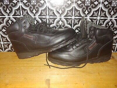 67b82e83e12 RED WING 6658 Mens Work Boots Size 8 D Steel Toe Safety Leather Black Lace  USA