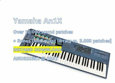 Yamaha An1X - 10.000+ Patches Sound Banks (.Syx, An1 and .Mid) Instant Download