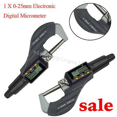 Compact Design Digital Electronic Outside Micrometer Carbide Tip 0-25mm Best
