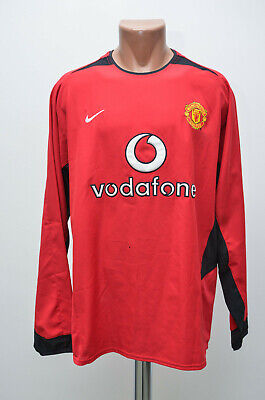 39b884eec Manchester United 2002 2003 2004 Home Football Shirt Nike Size L Long Sleeve