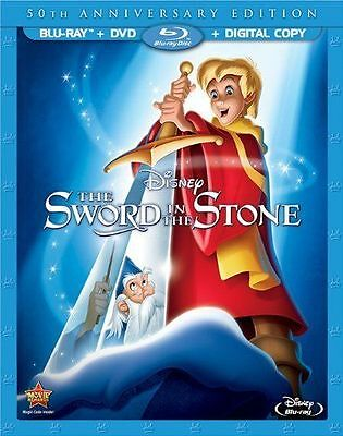 The Sword in the Stone (Blu-ray Disc, 2013, 50th Anniversary Edition) NO DVD