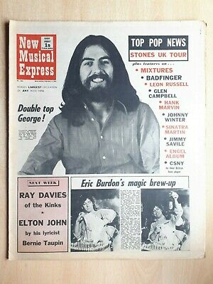 New Musical Express 6th February 1971 Leon Russell Johnny Winter George Harrison