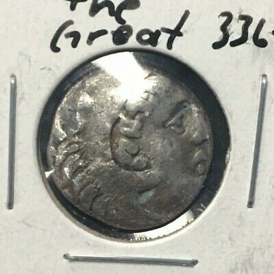 336-323B.c King Of Macedon.alexander The Great Silver Drachma..nice Coin