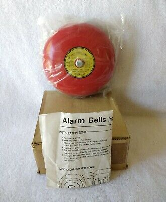"""Fourwires HC-1120 6"""" Fire Alarm Bell Audible Signal Service New-Old Stock"""