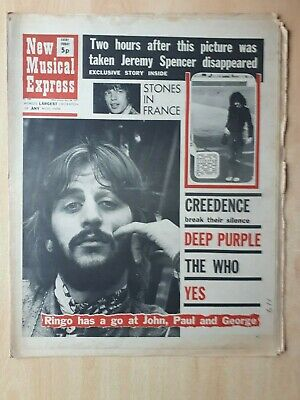 New Musical Express 24th April 1971 Ringo Starr CSNY Yes Fleetwood Mac The Who