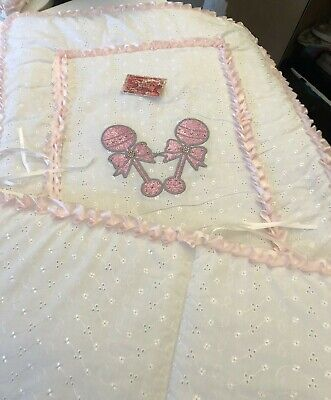 Cot Quilt And Bumper Set - Your Choice Of Colour