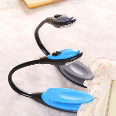 7B91 LED Clip Booklight Portable Travel Book Reading Light Lamp Random Color