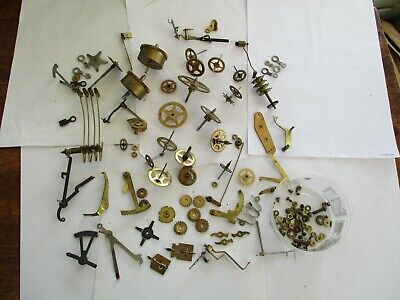 Large Lot Of  Clock  Parts