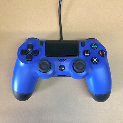 PS4 Wired USB Controller Remote Gamepad for P4 - High Quality Brand New BLUE