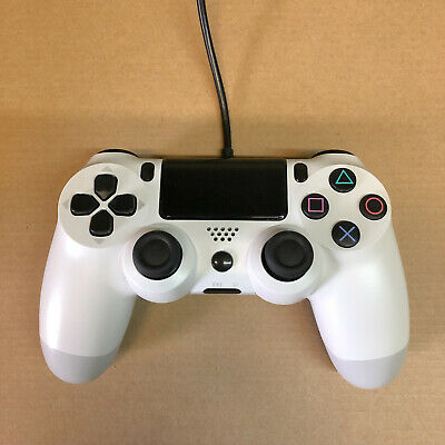 PS4 Wired USB Controller Remote Gamepad for P4 - High Quality Brand New WHITE