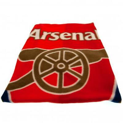 Arsenal FC Official Crested Fade Fleece Blanket Throw The Gunners Gift Present
