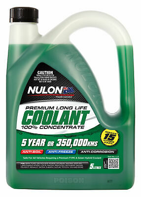 Nulon Long Life Green Concentrate Coolant 5L LL5 fits Ford Fairlane 3.3 200ci...