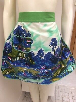 Original Vintage 50s 60s ladies apron Cottage , Taniwha, Retro Pinup Rockabilly