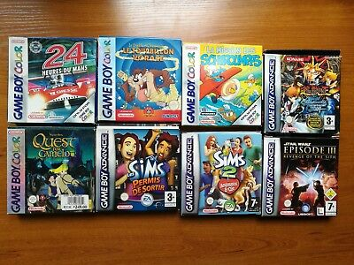 Lot jeux Game boy Color Advance Boite Nintendo