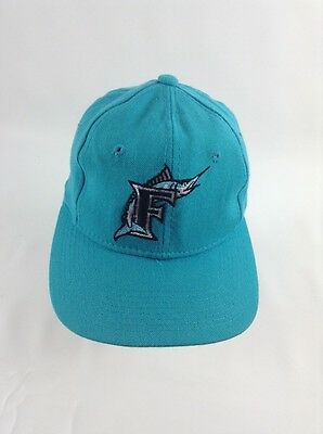 7e3ad9e270b2e9 Florida Marlins Fitted Youth Size 6 7/8 MLB Cap Teal Baseball Hat Wool Retro