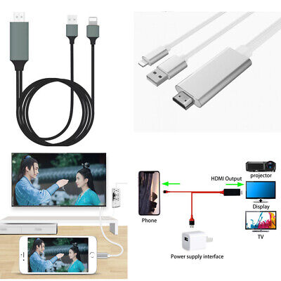 1080p Lightning to HDMI HDTV AV Adapter Cable For iPhone 5/6/7/8/XS Max & iPad