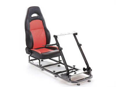 Gaming Racing Simulator Frame Chair Bucket Seat Frame X Box PS3 PS4 (Black/Red)