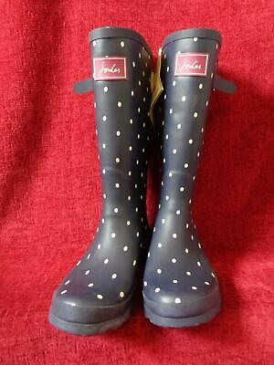 Joules Wellyprint Wellington Boots - Uk Size 8/eu 42 - With Tags      Mc65