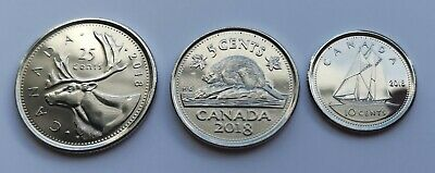 *** 2018  Canada  Lot Of Three  Coins ***