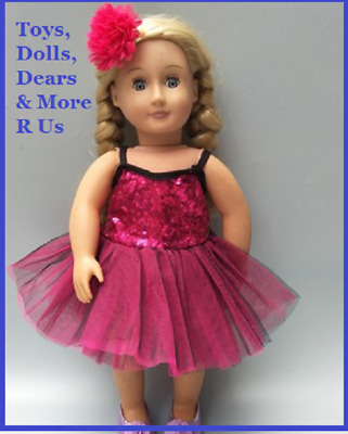 """Baby Born Doll Clothes To Fit 17""""/43cm American Doll Ballerina Dress 2 Piece set"""