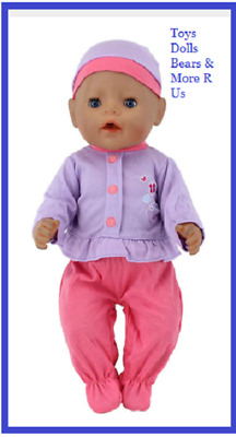"""Baby Born Doll Clothes To Fit 17""""/43cm Doll 4 piece set Hat Jacket Pants Dummy"""