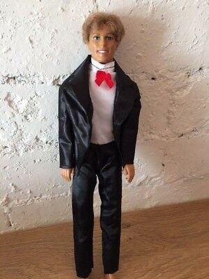New Ken Doll Clothes Black Tuxedo Red Bow tie Suit Wedding Prince