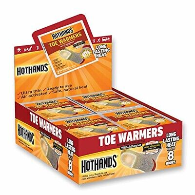 40 Pair - HotHands Toe Warmers - Long Lasting Safe Natural Odorless Air Activate