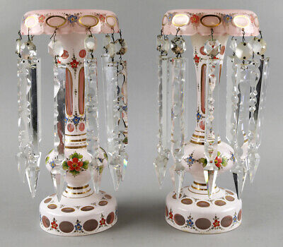 Heavy Antique Cased Bohemian Crystal Lusters