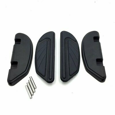 Black Airflow Passenger Footboard Kit For Harley 2006-later Dyna/2000-later Soft