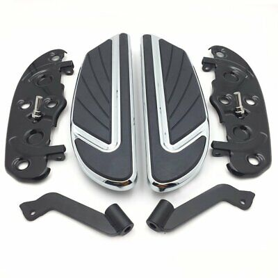 Chrome Airflow Rider Footboard Kit For '12-'16 FLD/ '86-later FL Softail