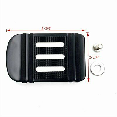 Black Large Brake Pedal Pad For Harley 86-17 FL Softail(Switchback FLD/Fat Boy)