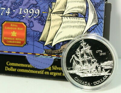 Canada 225th Anniversary of Juan Perez's Voyage Silver Dollar By RCM
