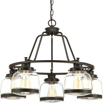 Progress Lighting Judson Collection 5-Light Antique Bronze Chandelier with Shade
