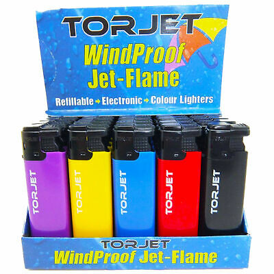 Torjet Electronic Windproof Refillable Jet Flame Cigarette Lighters