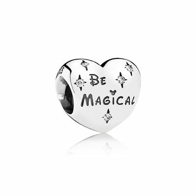 Authentic Pandora Bead Charm Sterling Silver 791439CZ Be Magical Disney Bead
