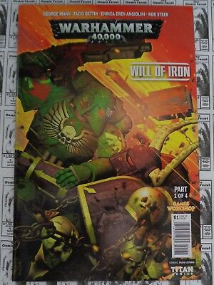 Warhammer 40000 Will of Iron (2016) Titan - #1, Variant C, Mann/Bettin, VF