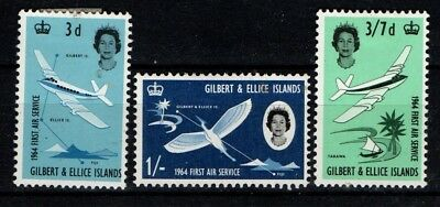 Gilbert and Ellice Islands 1964 First Air Service SG 82-84 Mint MH