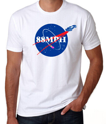Back To The Future 88MPH Nasa Space Logo 80's Funny Comedy Movie Geek T-Shirt