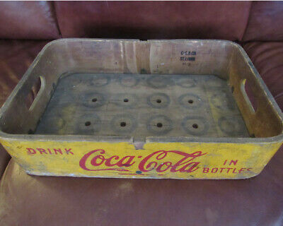 Vintage 1948 Coca Cola Wooden crate with rounded corners - RARE!