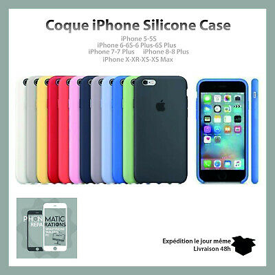 Coque Silicone Case Protection Apple IPhone 6/ 6S/ 7/ 8/ Plus XR / X / XS /XsMAX