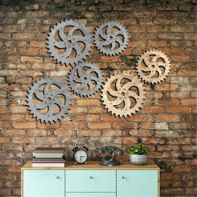 Gear Ornament Wall Hanging Vintage Industrial Wind Bar Factory Wall Decor FY