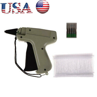 "Clothes Garment Price Label Tagging Tag Gun Machine 3""1000 Barbs + 5 Needles US"