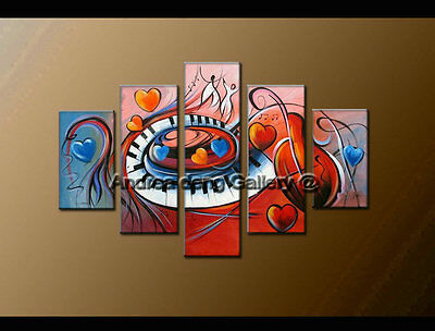 Wall Art Decor Music Living Room Modern Abstract Oil Painting Canvas Framed 1485
