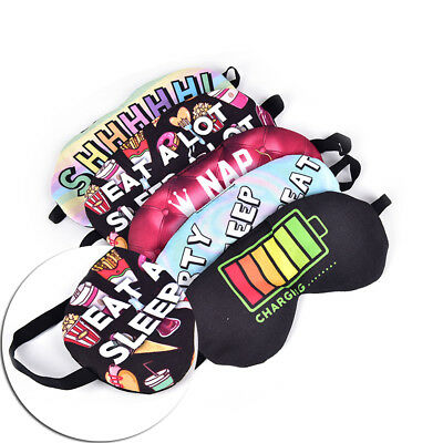 3D Eye Mask Shade Cover Rest Eyepatch Blindfold Shield Travel Sleeping Aid E Rd
