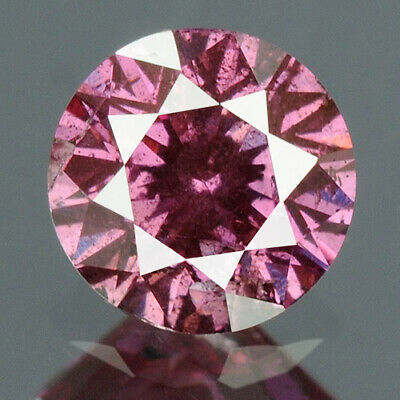 0.24 cts CERTIFIED Round Cut Vivid Pink Purple Color Loose Natural Diamond 11924