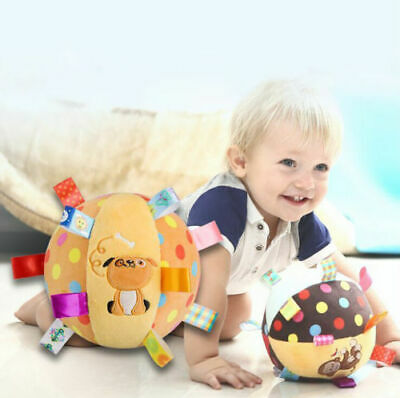 Lovely Baby Gifts Plush Cotton Rattles Toys Cloth Ball Hand Grasp Bell Hot PF